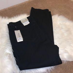 NWT NYDJ Black Marilyn Straight Jeans Size 20W